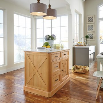 Captivating Country Lodge Kitchen Island