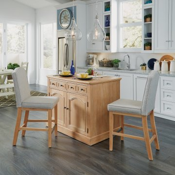 Cambridge Kitchen Island With Two Counter Stools