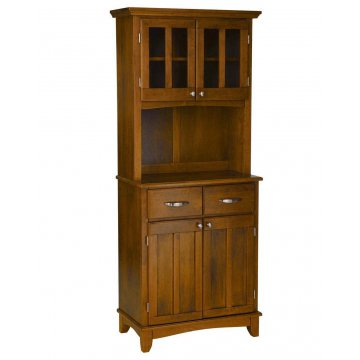 Bon Buffet And Hutch With Cottage Oak Finish