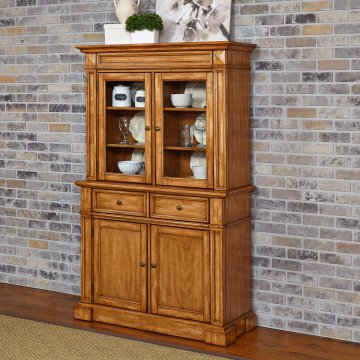 Home styles arts and crafts buffet and hutch