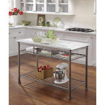 Lovely The Orleans Kitchen Island With Quartz White Top