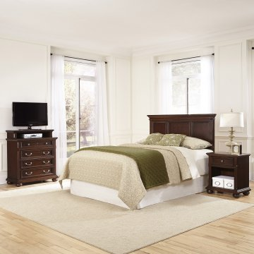 Colonial Classic Queen/Full Headboard, Nightstand, And Media Chest