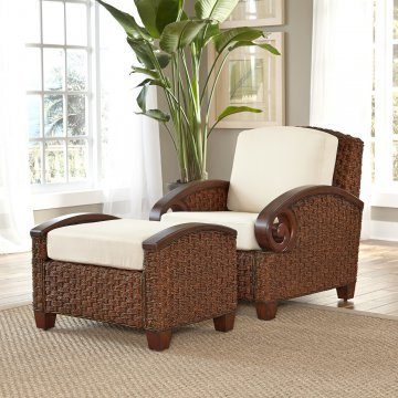 Cabana Banana III Cinnamon Chair And Ottoman