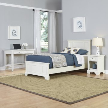 Naples Twin Bed Nightstand And Student Desk