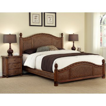 Marco Island Queen Bed And Nightstand