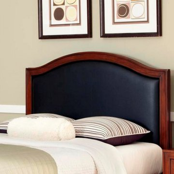 duet king california king camelback headboard brown microfiber inset homestyles. Black Bedroom Furniture Sets. Home Design Ideas