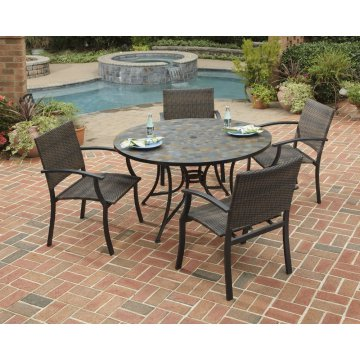 Stone Harbor Slate Tile Top Dining Table Homestyles