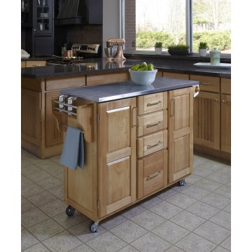 Captivating Create A Cart Natural Finish Stainless Top