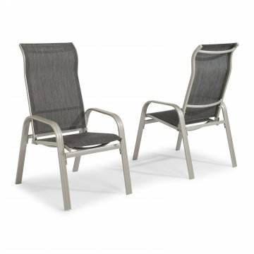 South Beach Pair Of Sling Arm Chairs