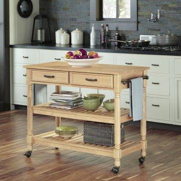 savannah natural kitchen cart