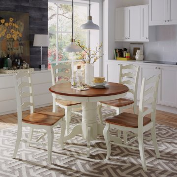Charmant The French Countryside Oak And Rubbed White 5PC Dining Set