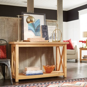 Genial Country Lodge Console Table