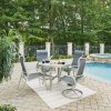 South Beach Swivel Base Chair 5700-55 shown with South Beach Arm Chairs 5700-81 and Table 5700-32, sold separately