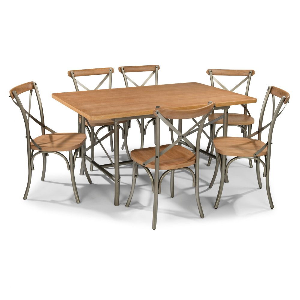 French Quarter 7 Pc Dining Set with Table & 6 Chairs 5064-319