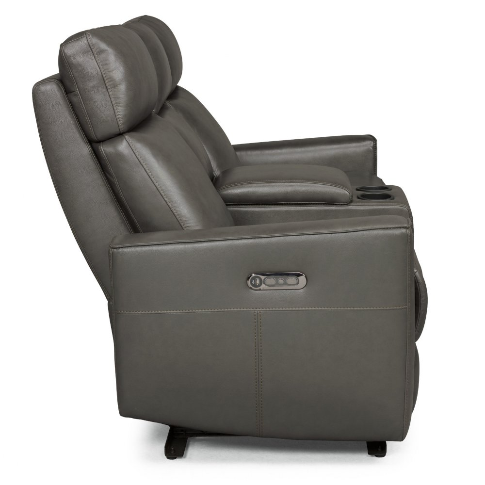 Nuovo Leather Power Motion Reclining Console Love Seat 5320-61