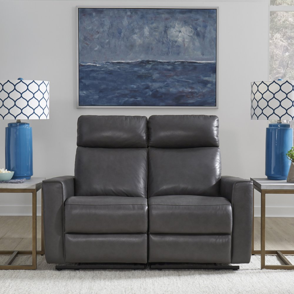 Nuovo Leather Power Motion Reclining Love Seat 5320-60