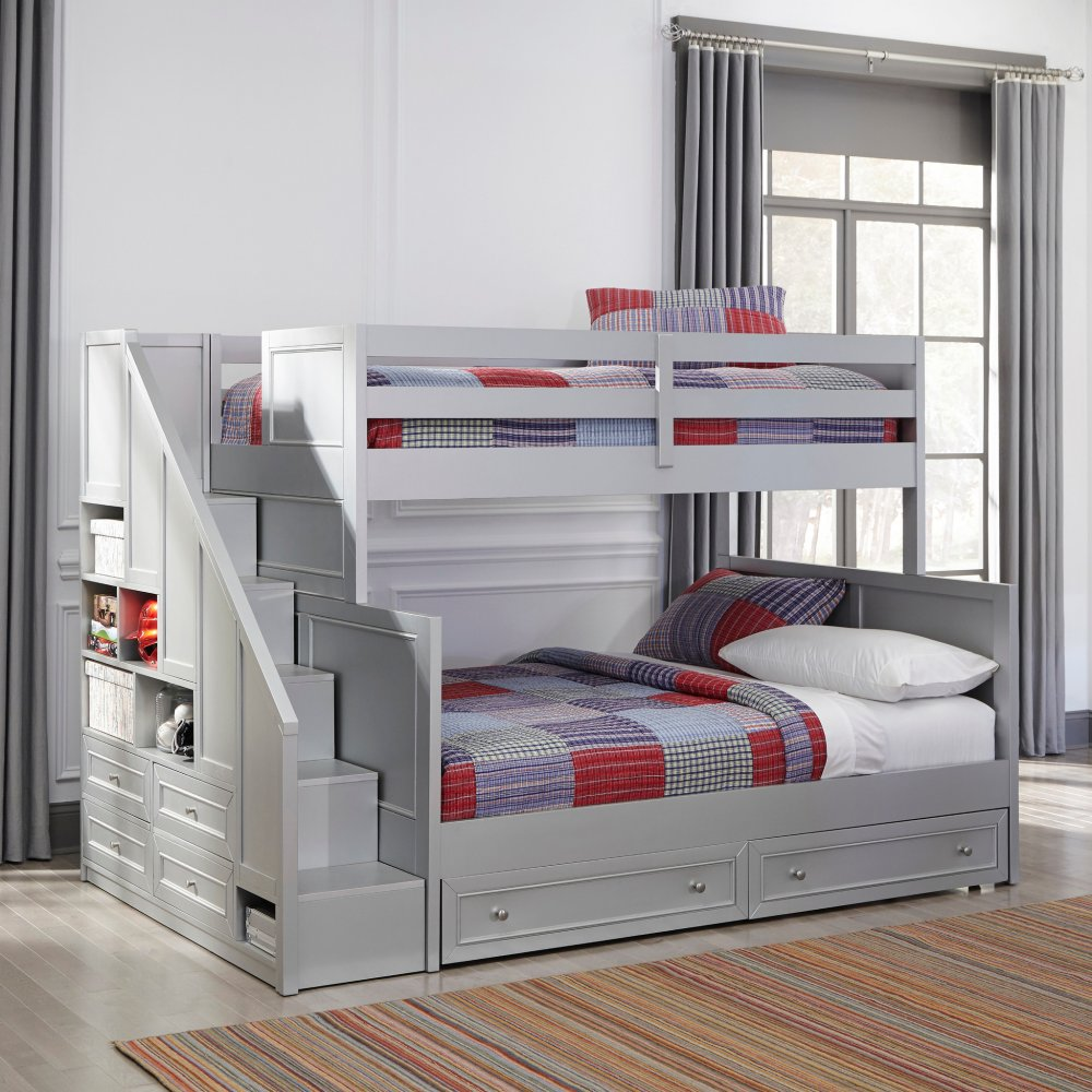 Venice Twin Over Full Bunk Bed With Steps Amp Lower Storage