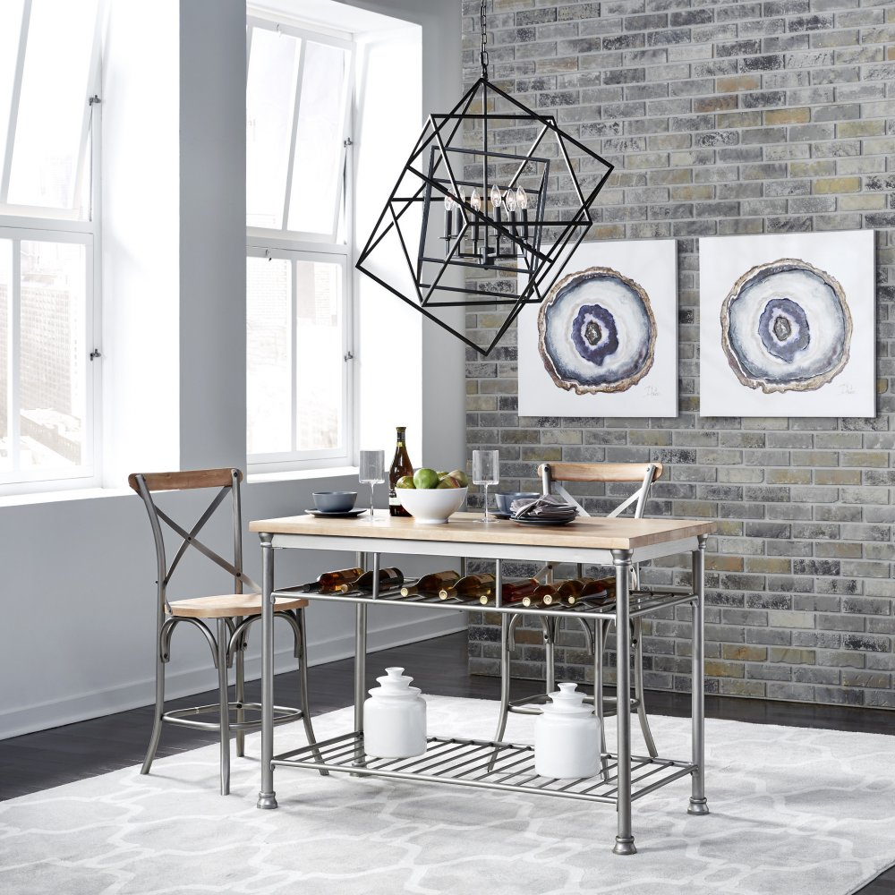 Fabulous French Quarter Kitchen Island With 2 Stools Home Styles Pabps2019 Chair Design Images Pabps2019Com