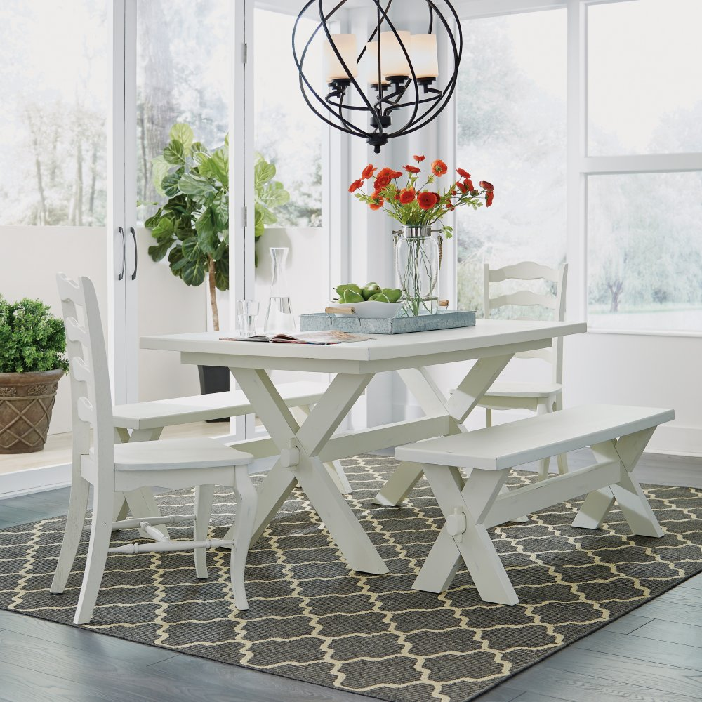Astounding Seaside Lodge 5 Pc Dining Group With Table 2 Chairs And 2 Gmtry Best Dining Table And Chair Ideas Images Gmtryco