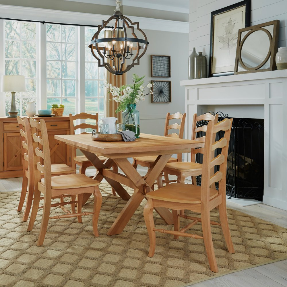 Country Lodge 7 Pc Dining Group with Table and 6 Chairs | Homestyles
