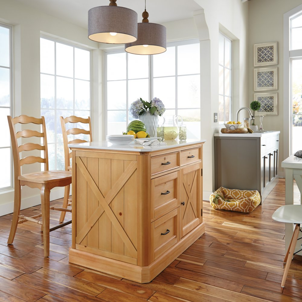 Superb Country Lodge Kitchen Island And 2 Stools Home Styles Dailytribune Chair Design For Home Dailytribuneorg