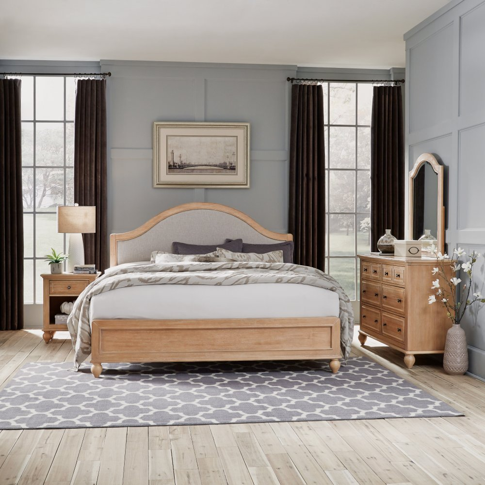 Cambridge King Bed, Night Stand, and Dresser with Mirror 5170-74