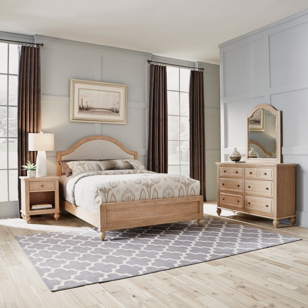 Cambridge Queen Bed, Night Stand, and Dresser with Mirror Set 5170-5023