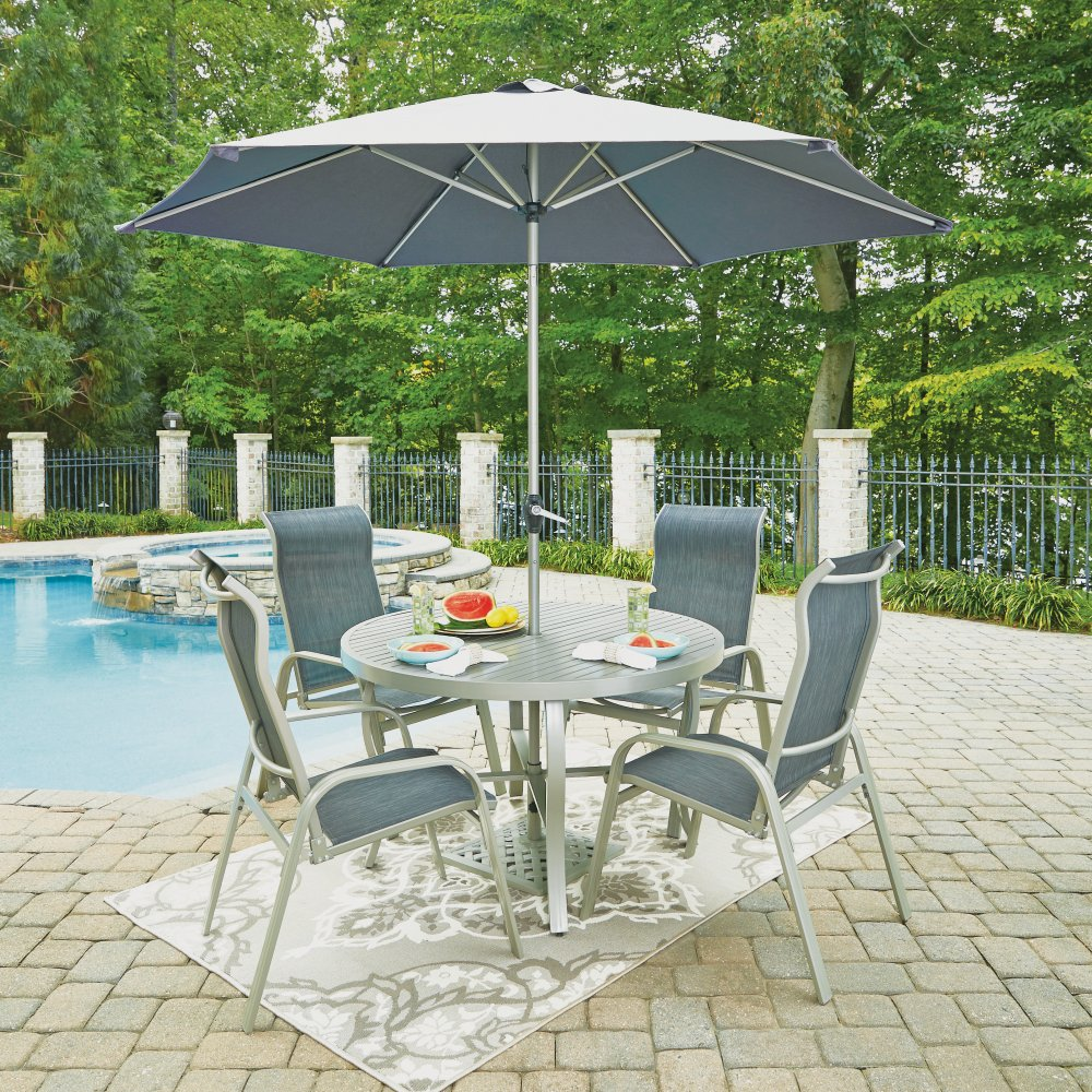 Pleasant South Beach 7 Pc 48 Inch Round Outdoor Dining Table With 4 Pdpeps Interior Chair Design Pdpepsorg