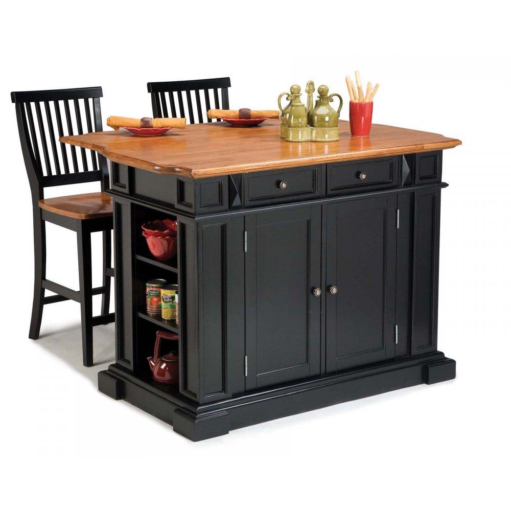 kitchen island black and distressed oak homestyles