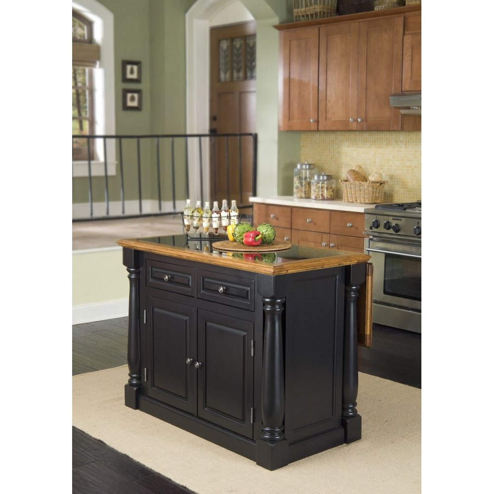 Kitchen Island Granite Top Monarch Black And Distressed Oak Island Granite Top Homestyles