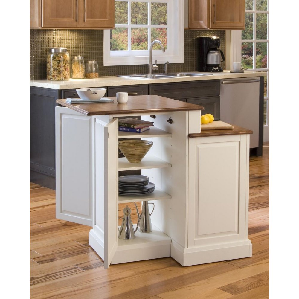 Woodbridge Kitchen Cabinets: Woodbridge White Two Tier Island