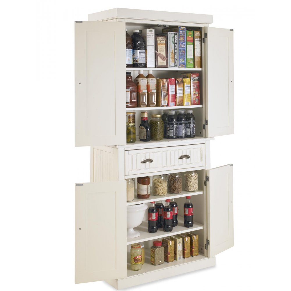 Nantucket Pantry White Distressed Finish Homestyles