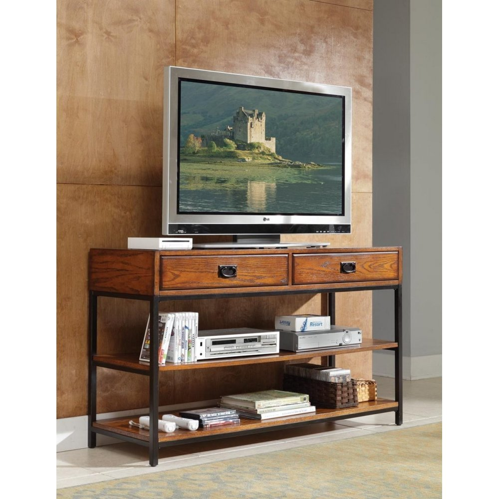 Modern Craftsman Distressed Oak Tv Stand Homestyles