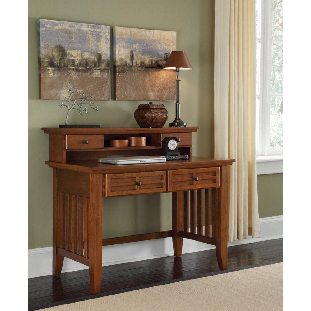 Arts Crafts Cottage Oak Student Desk And Hutch