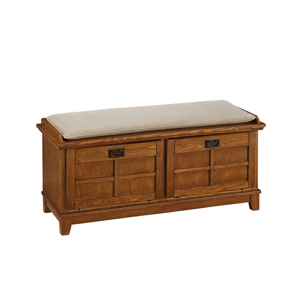 Arts Amp Crafts Cottage Oak Upholstered Bench Homestyles
