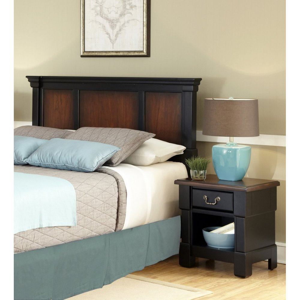 The aspen collection king california king headboard media for Headboard dresser and nightstand set