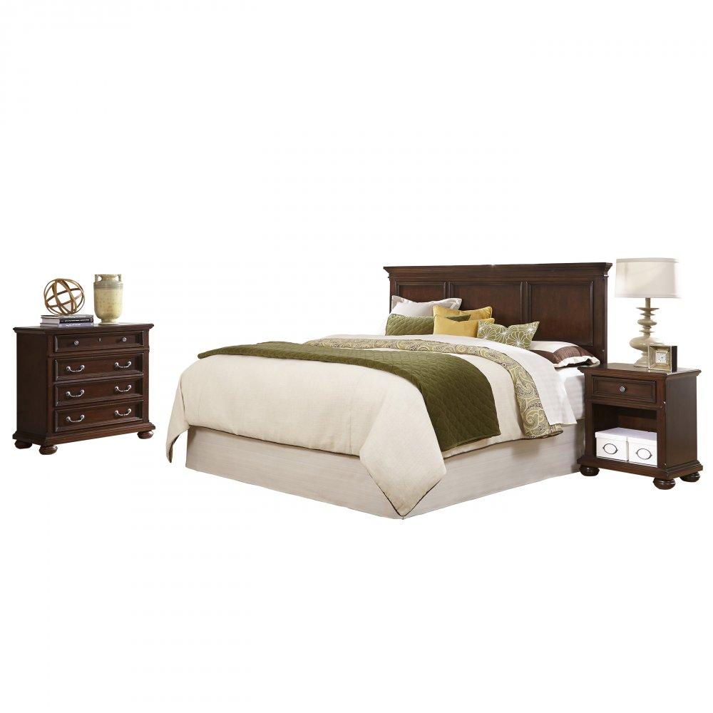 Colonial classic king california king headboard for Headboard dresser and nightstand set