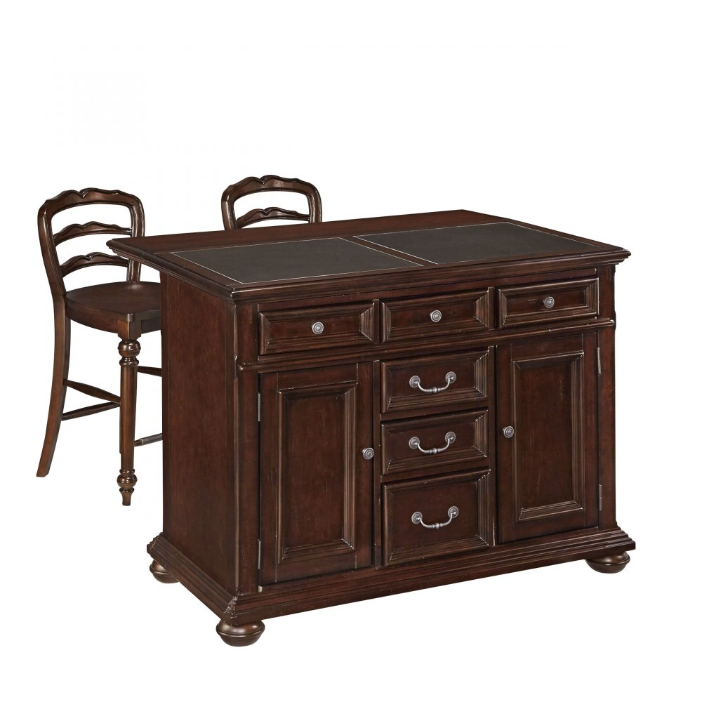 Colonial Classic Kitchen Island W Granite Top And Two