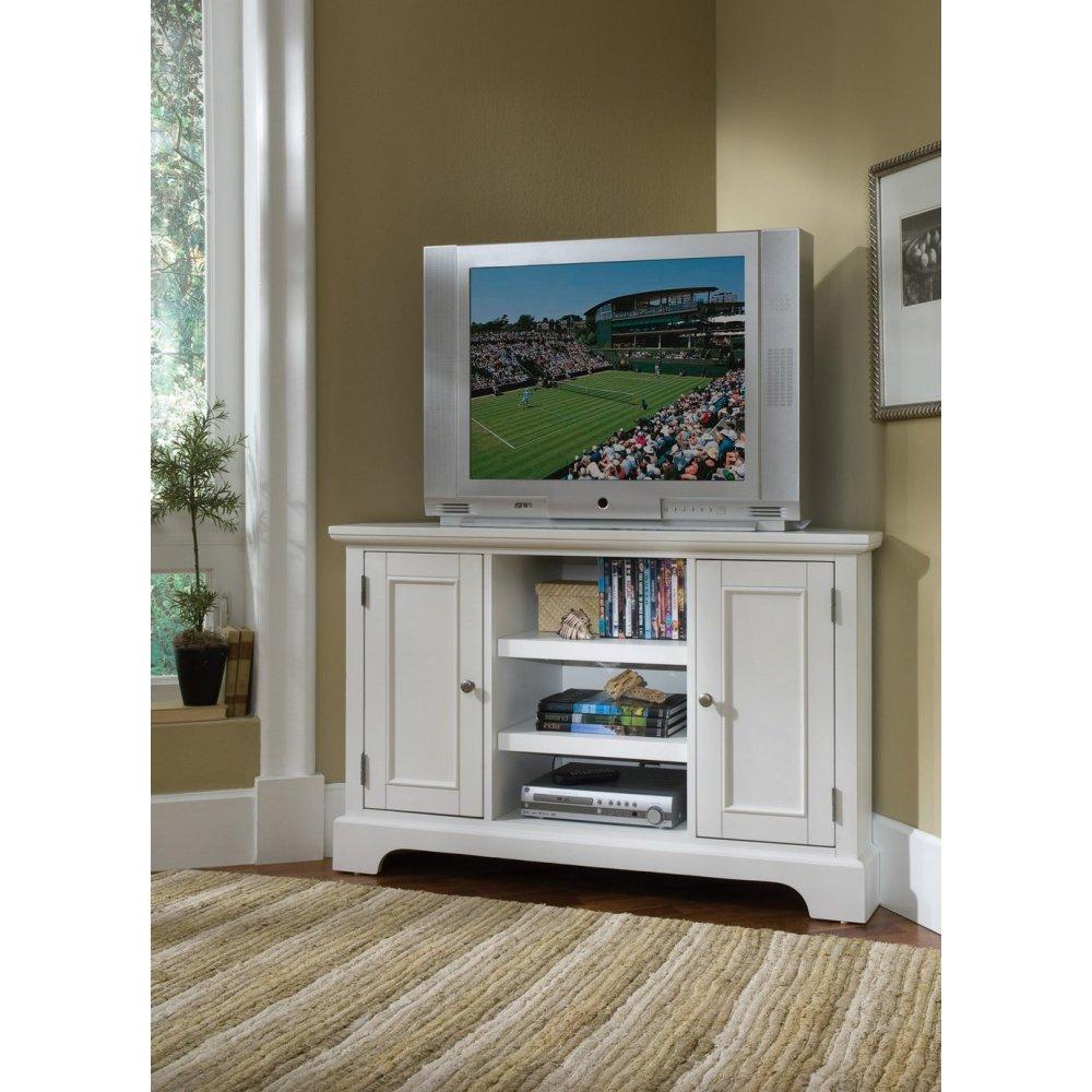 Naples White Corner Tv Stand Home Styles