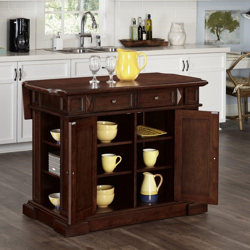 americana cherry kitchen island homestyles prairie home kitchen island and two stools homestyles