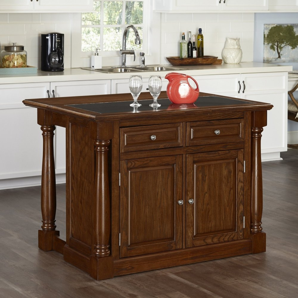 Oak Kitchen Carts And Islands Monarch oak kitchen island w granite top homestyles workwithnaturefo