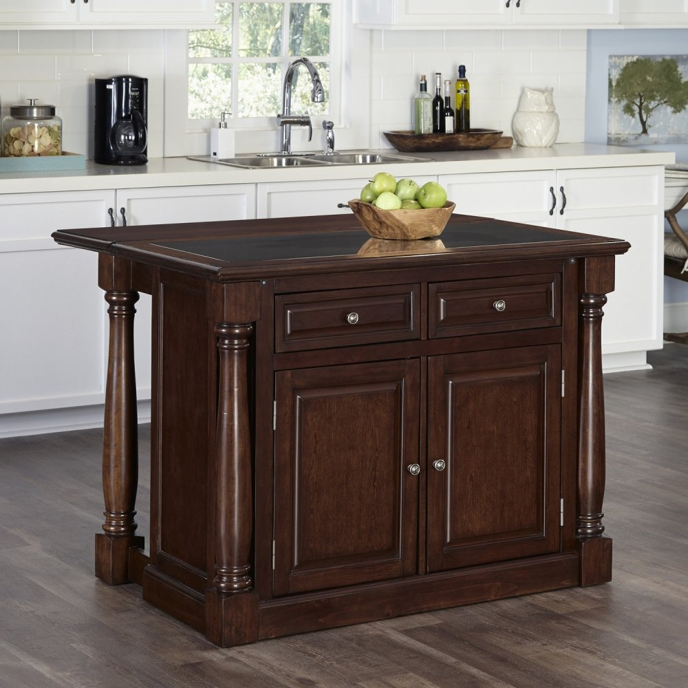Monarch Cherry Kitchen Island W Granite Top Homestyles