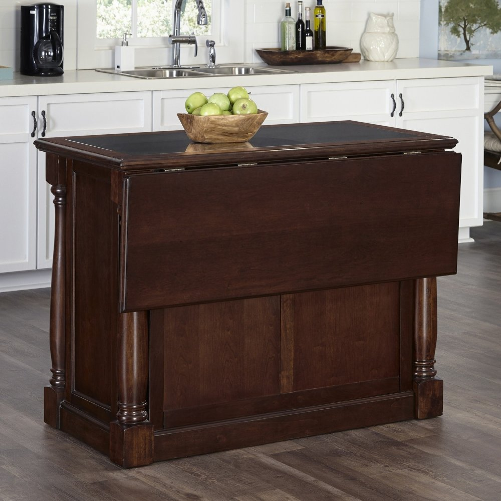 Monarch cherry kitchen island w granite top homestyles for Marble topped kitchen island