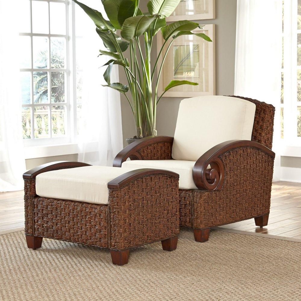 chairs with ottomans for living room.  Cabana Banana III Cinnamon Chair and Ottoman Homestyles