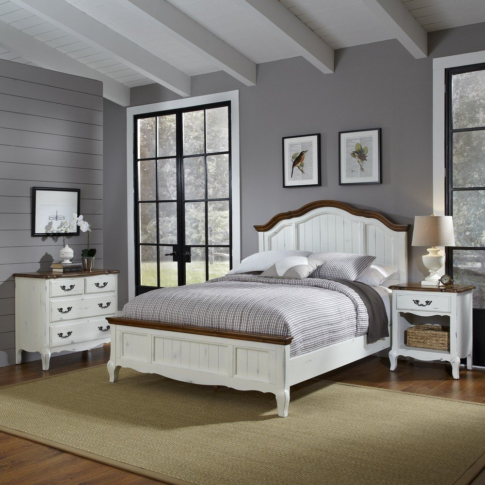 The French Countryside Queen Bed Nightstand And Chest Homestyles