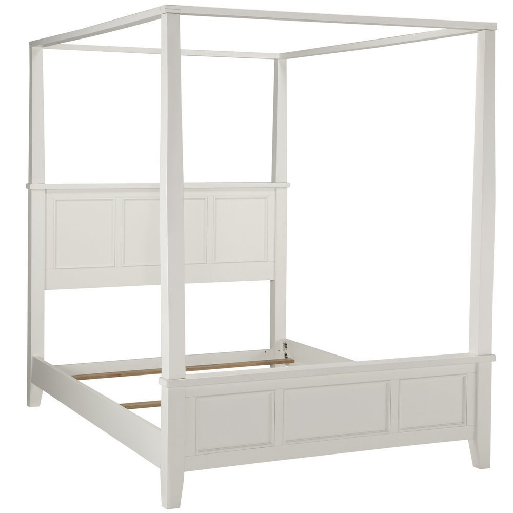 - Naples White Queen Canopy Bed Home Styles