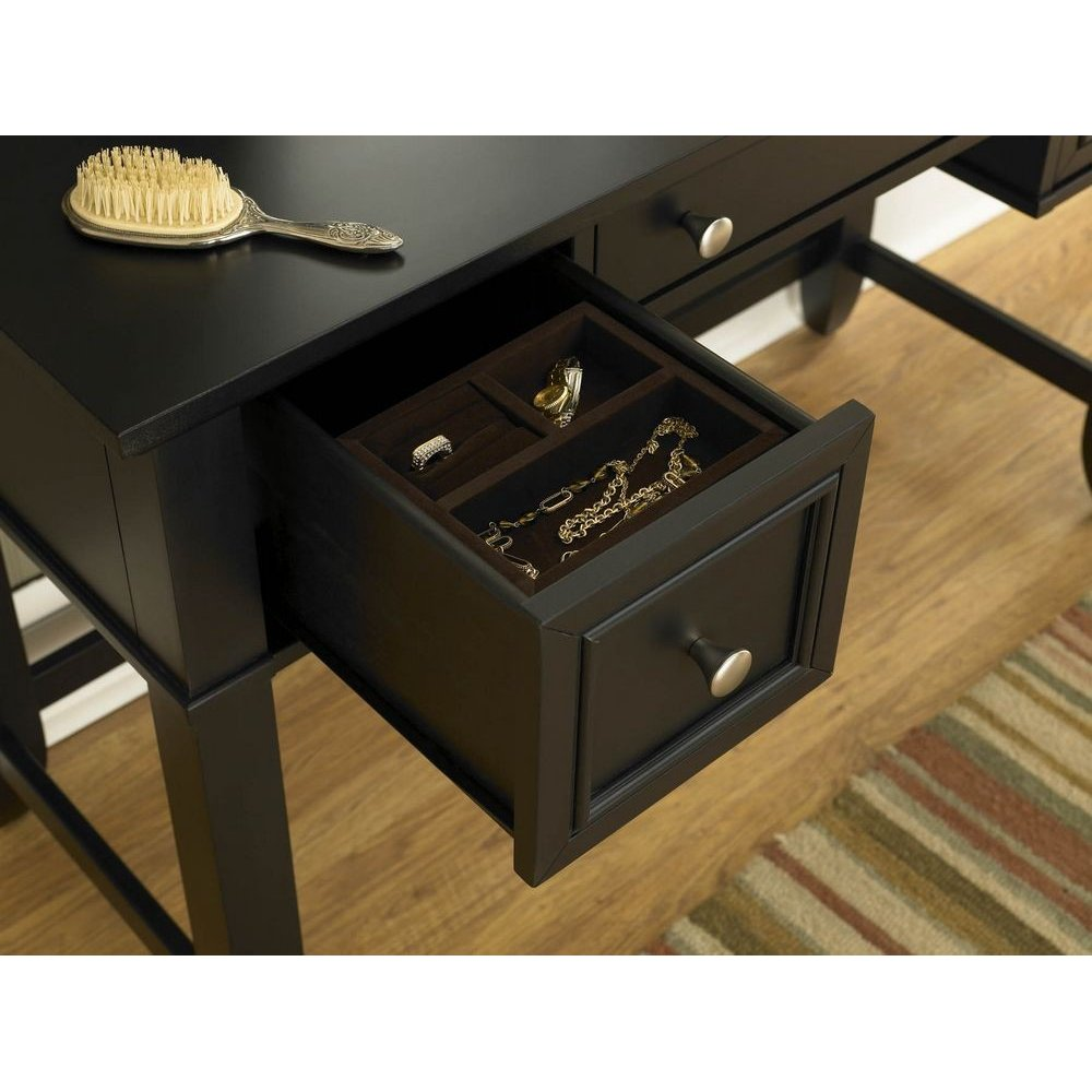 Bedford Black Vanity Table Homestyles