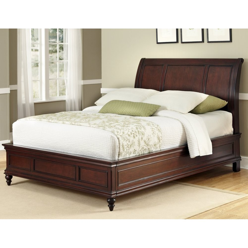 Lafayette king sleigh bed homestyles for Cot headboard designs