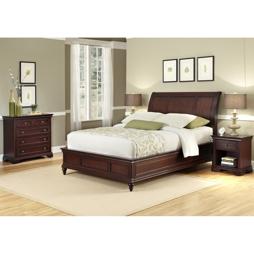 lafayette king sleigh bed nightstand and chest