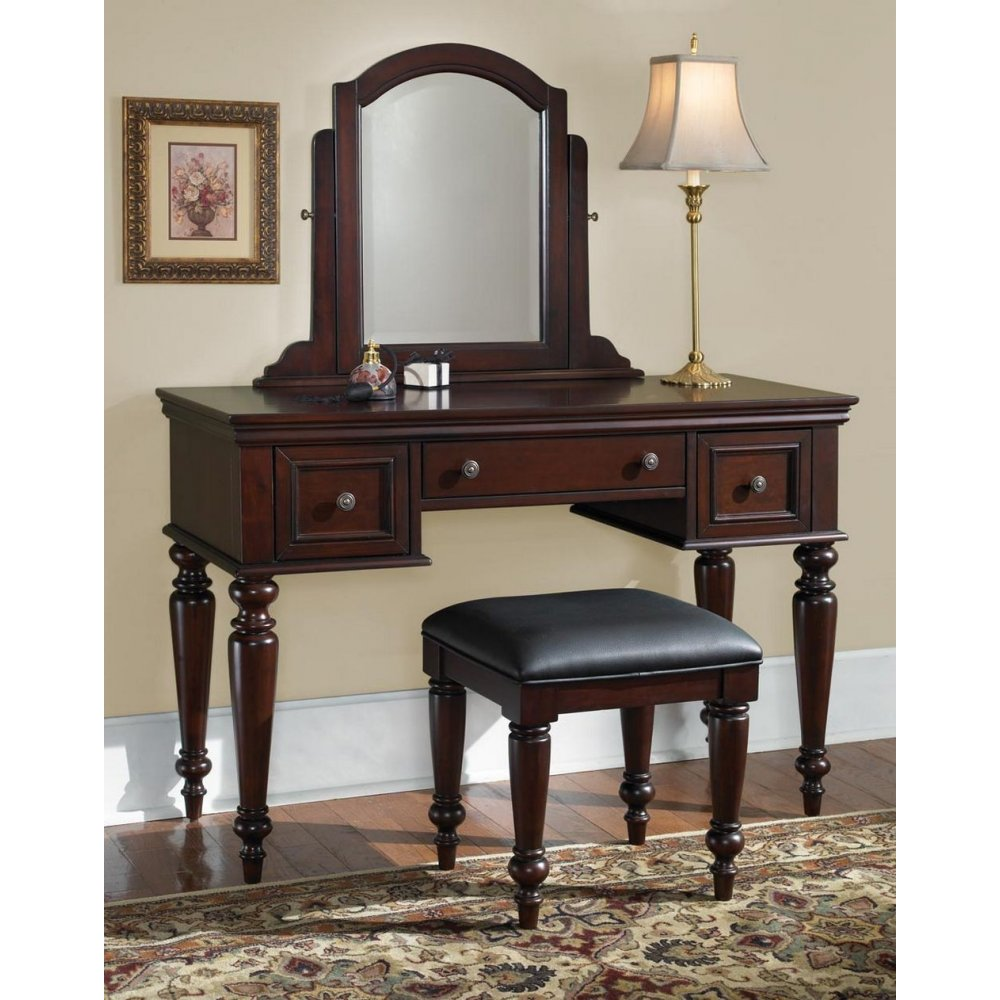 Outstanding Lafayette Cherry Vanity Table And Bench Home Styles Gmtry Best Dining Table And Chair Ideas Images Gmtryco
